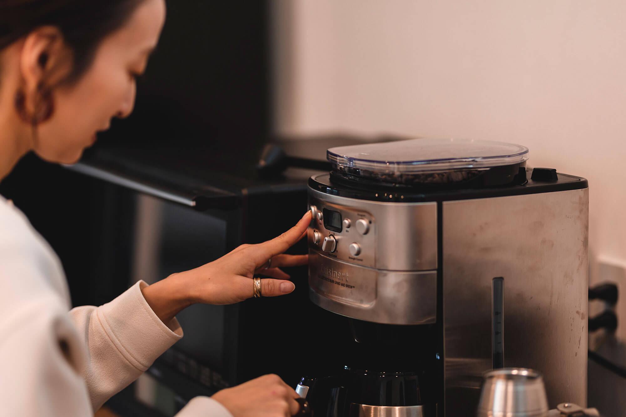 コーヒータイムも楽しいリビング